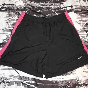 Nike Gym Shorts Womens Athletic Small Black Pink